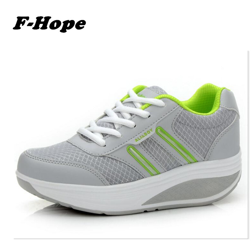 3.29spuer deal Slimming Swing Shoes mesh breathable  2016 Women Summer Wedge Platform Elevator Loss Weight sneakers canvas shoes<br><br>Aliexpress
