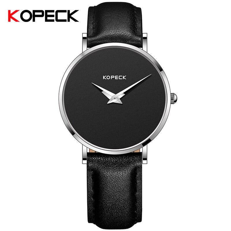 KOPECK Newest Mens Watches Top Brand Luxury Blue Glass Watch Men Watch Waterproof Leather Mens Watch Male Clock Relojes<br>