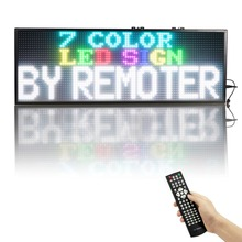 59 X 10.7 inches RGB Full color Remote control Programmable Scrolling full color LED Sign Message Board Display(China)