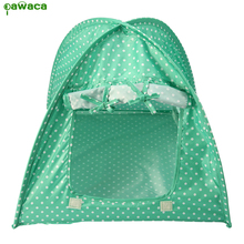 Beds for Cats Cheap Dog House Foldable Cute Dots Style Outdoor Indoor Pet Tent for Kitty or Small Dog Goods for Pets Dot Tent