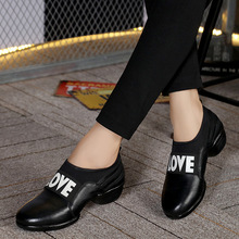 2017 Autumn Women Black Pumps Designer Ladies 3CM Low Heel Red Pumps Slip On Soft Bottom Dance Shoes Handmade Women Leather Shoe