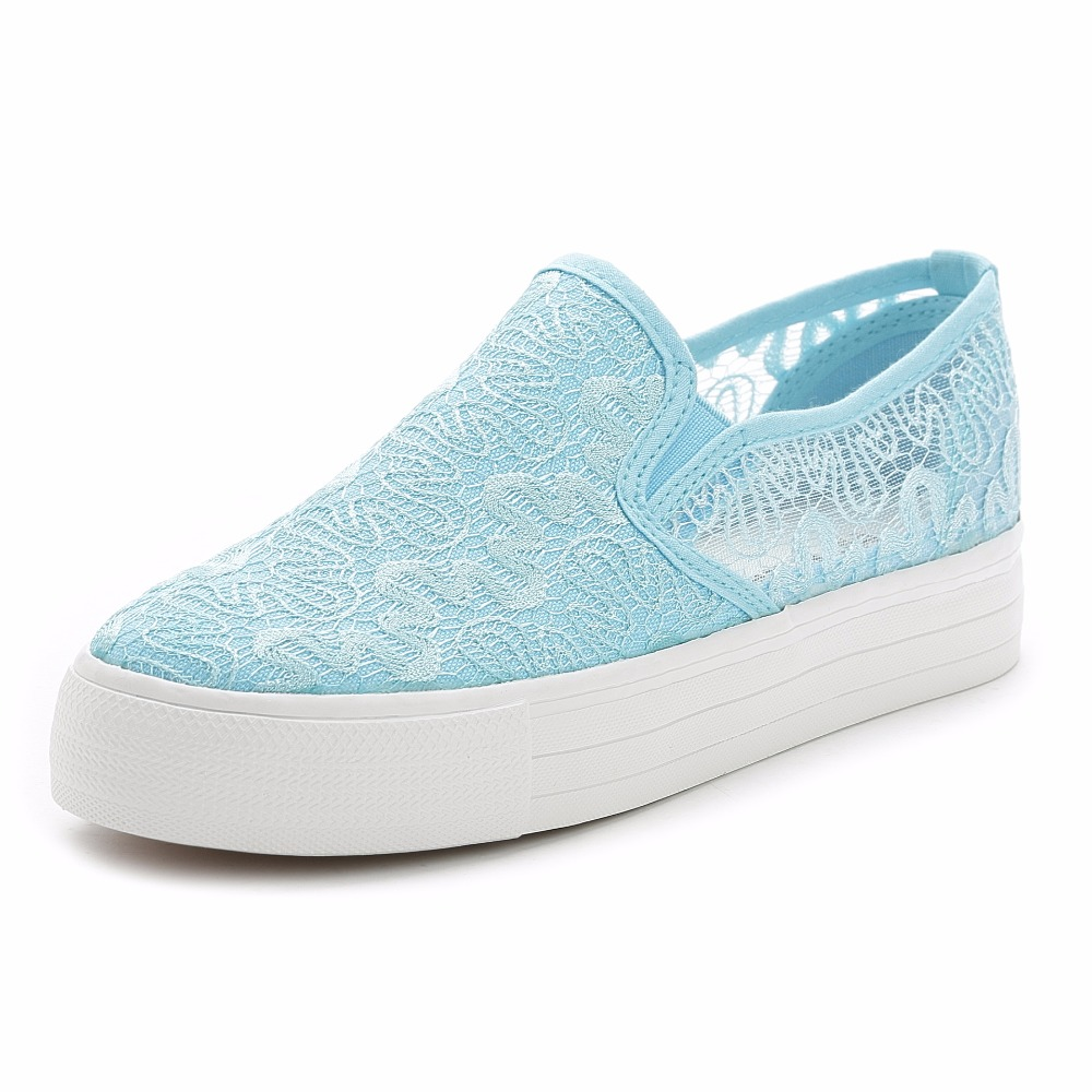 In The Summer Of 2017 Korean Openwork Canvas Shoes shoes Tide Pedal Loafer Shoes Low Lace Thickness Bottom Womens Shoes<br><br>Aliexpress