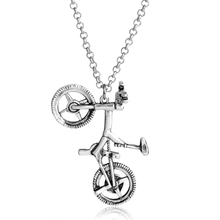 Hip Hop Jewelry Bicycle Pendant Necklace Racing Bike Metal Necklace Bijouterie Men Chain Jewelry Chain Accessories Collares