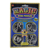 4pcs=1set, Metal Magic Wire Disentanglement Puzzles Toys,(China)