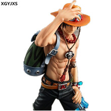 Free Delivery Anime One Piece POP Ace Monkey D Luffy Sabo Fire Fist 23cm PVC Action Figure Toy Collection Model Gift X224