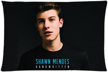 Classic Shawn Mendes Rectangle Pillowcases zipper Custom Pillow Case 45x35cm(one side)SQ00626-HXL