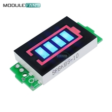 3S 3 Series Lithium Battery Capacity Indicator Module 12.6V Blue Display Electric Vehicle Battery Power Tester Li-po Li-ion(China)