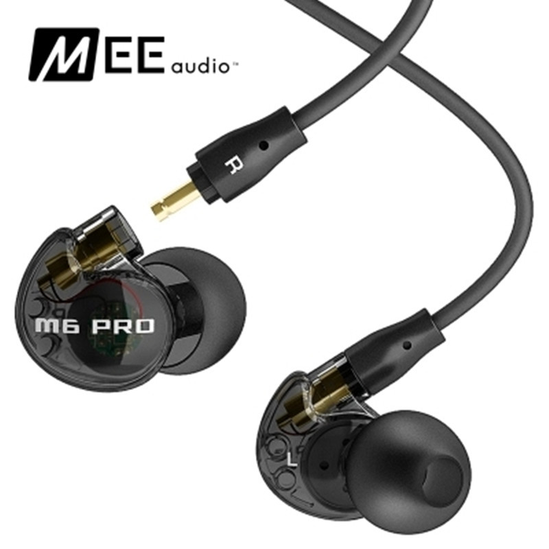 2 colors MEE audio M6 PRO Universal-Fit Noise-Isolating Musicians In-Ear Monitors with Detachable Cables PK SE215 earphones<br>