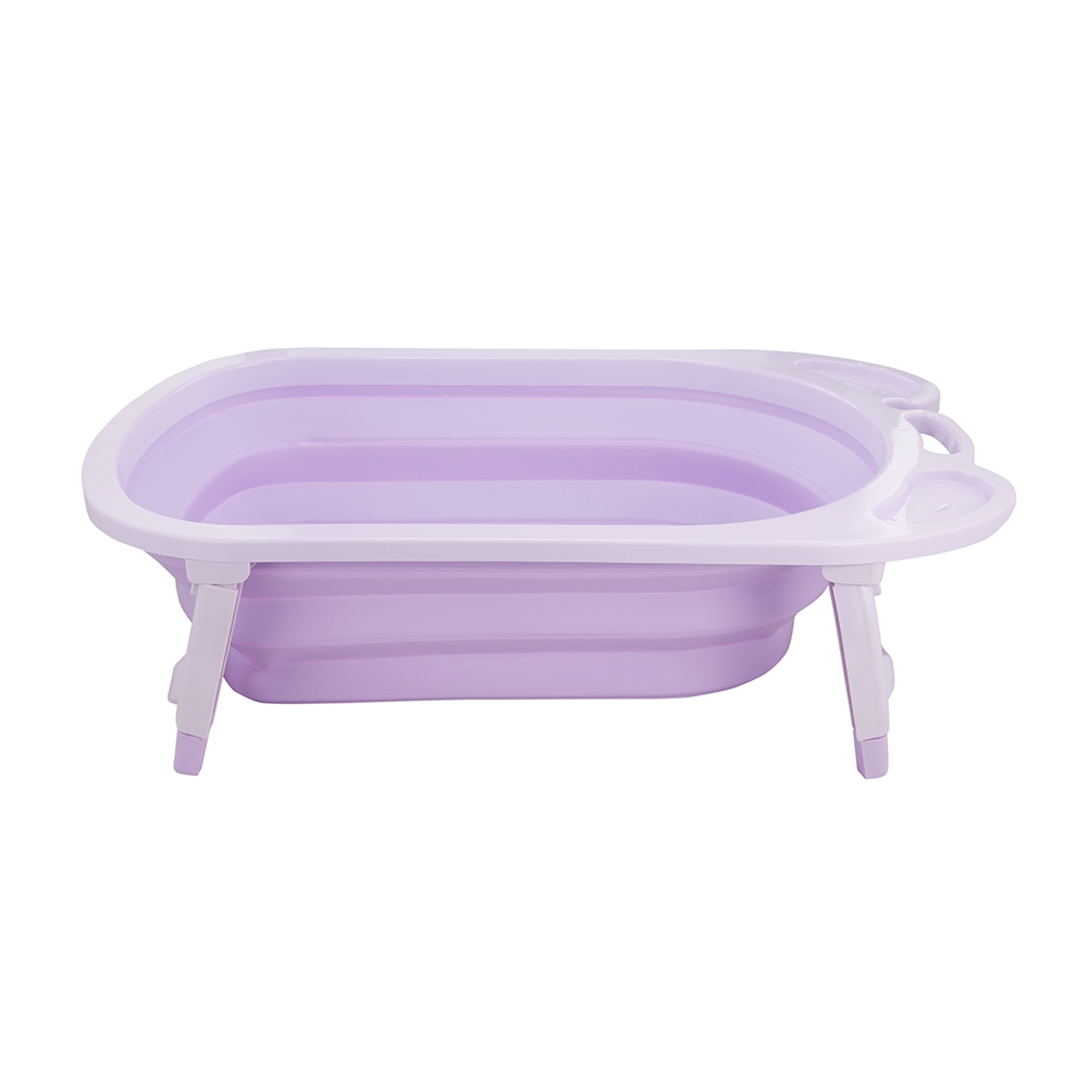 3 Colors Portable Folding Baby Bath Tub Large Size Anti-Slip Bottom Non-Toxic Material Children Bathtub Bucket for Baby Bathing (1)