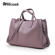 Wilicosh Hot Sale Handbags Women Bags Designer Genuine Leather Bag High Quality Weomen Shoulder Bag Solid Crossbody Bag DF0128(China)