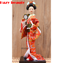 14-Inch 38cm Japanese Geisha Dolls Resin Statuette Home Furnishing Miniature Figurines Home Decoration Holiday Gifts rihan