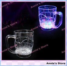 Wholesale LED BEER MUG, LED flashing beer cup, bottle, fancy light glass, color changing, big size