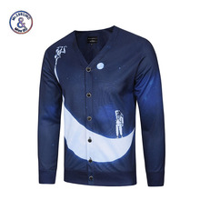 Mr.1991INC Autumn sweater men long sleeve mens sweaters pullover Astronauts Print Men casual Clothing Men's Sweatercoats 3XL