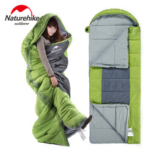 Naturehike factory sell Outdoor winter Sports Camping Hiking Adult Waterproof Ultralight Sleeping Bags with hat fleece lining(China)