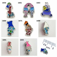 Multiple options Cartoon character 10pcs floating locket memory charms fit for memory locket DIY Accessories as Christmas gift