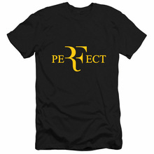 Fashion Roger Federer T Shirt RF T Shirts Cotton Short Sleeve Roger Federer Perfect Letter Summer Print Tee Shirts