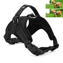 LemonBest Large Dog Harness Padded Chest Strap Heavy Duty with Handle Comfortable for Labrador Golden Retriever Samoyed Husky(China)