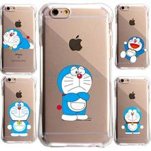 Anti knock UnBreak Crystal Cute Cartoon Doraemon For IPhone 5S SE 6 6S 7 7Plus Case Transparent soft Tpu Cell Phone Cover