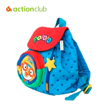 Actionclub Korean Backpack Penguin Pororo Bag Plush Backpack Bags Small School Child Cartoon Backpack For Girls Plush Toys