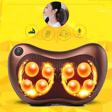 8 Rollers Neck Massager Head Body Massage Pillow Electric Infrared Heating Shiatsu Spa Muscle Stimulator Car Chair Relax