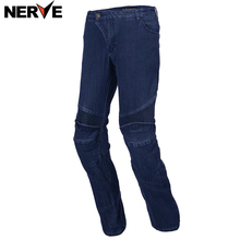 NERVE Men's WOMEN'S Motorbike Motocross Off-Road Knee Protective Moto Jeans Trousers Windproof Motorcycle Racing Jeans Pants(China)