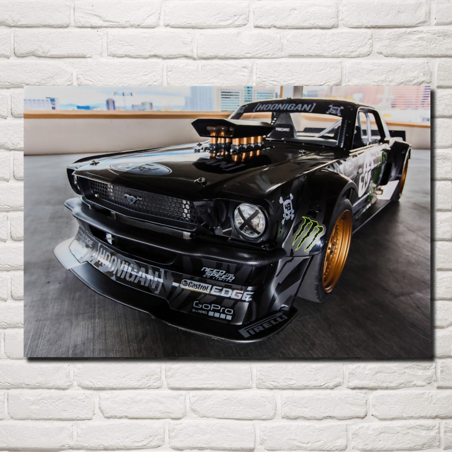 1965 FORD MUSTANG HOONIGAN Tuning Motor Sports CAR POSTER Multiple Sizes A