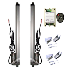 "A Pair of  400mm/16"" Stroke 14mm/s 1000N 220lbs Linear Actuator DC12V Motor & Wireless Remote Controller for Auto Car Door Open"