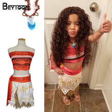 Buy Movie Princess Moana Costume Kids Moana Princess Dress Cosplay Costume Children Halloween Costume Girls Party Dress Set for $12.99 in AliExpress store