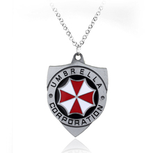 Resident Evil Biohazard RPD STARS Guitar Pick Necklace Umbrella Corporation Logo Metal Pendant Jewelry For Men And Women