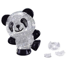 New 3D Crystal Panda Puzzle Furnish Gadget For Children Gift Toys Kids Puzzle Jigsaw Model DIY Panda Intellectual Toy