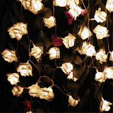 2018 Multicolor Decor. Wedding Rose LED String Lights Battery for Party Event Christmas Birthday Decoration Lightings Casamento(China)