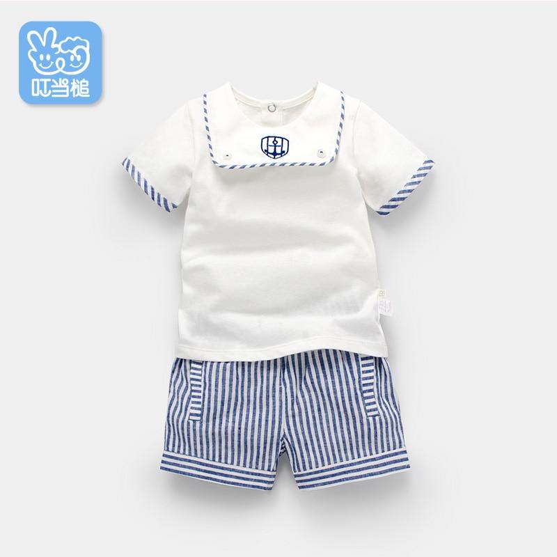 Dinstry Baby clothes short sleeve set summer newborn gentleman outerwear<br>