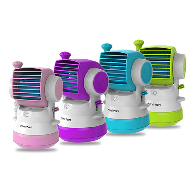 New USB Air Conditioner Fan Spray Humidifier With Hand Pressure And Air Jet Mini Fan Ventilador Portable Use For Home Office<br>