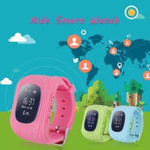 Q50 OLED Touch Screen Baby Anti-Lost Locator Tracker SOS GPS Phone Positioning Kids SmartWatch for Apple IOS Android(China)
