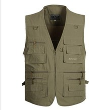 XL-5XL Sports Waistcoats Tactical Outdoor Vest With Many Pockets Sleeveless Jacket Reporter Photographer Hunting Fishing Vest