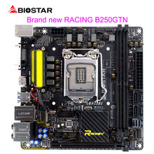 BIOSTAR Motherboard B250GTN For Intel Core i5 i7 7700k 7500 1151 ITX Racing Computer Motherboard DDR4 M.2 7Phase Power Supply