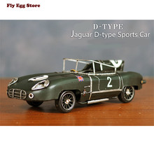 2016 new hot Metal 1954 D type sports car of JAGUAR XK-E Britsh car Handmade diecast toy for grownups alloy Classic car models(China)