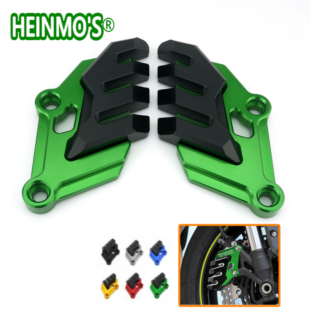 New Arrival For Kawasaki Z900 2017 Motorcycle Front Brake Disc Caliper Brakecaliper Guard Protector Cover CNC Aluminum <br>