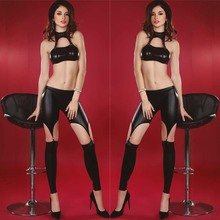 Buy Latex Catsuit Costumes Leather Catwoman Catsuit Langerie Sexy Erotic Women Wet Look Lingerie PVC Bodysuit