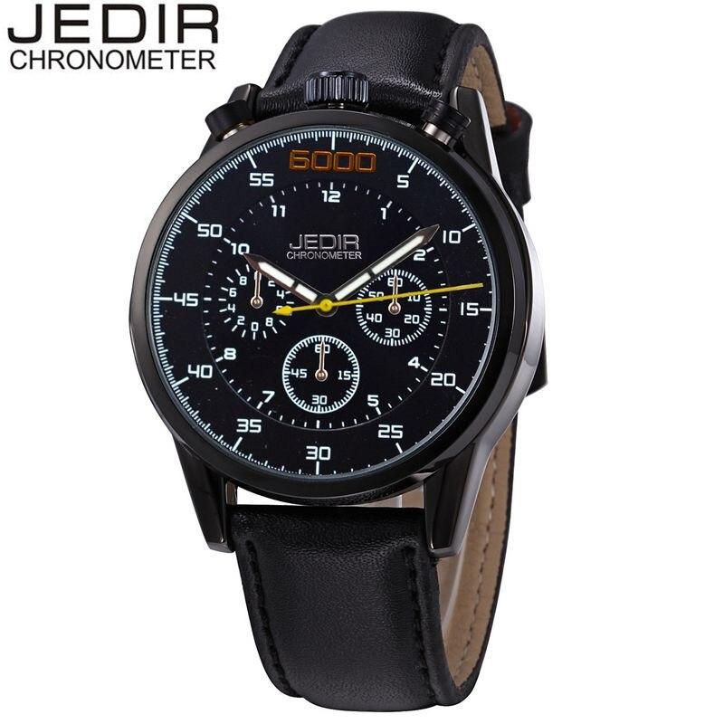 JEDIR 2017 Casual Mens Day Watches Chronograph Male Quartz-watch Wrist Watch Montre Homme Gift Box Free Ship<br><br>Aliexpress