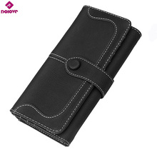 DOLOVE 2017 ladies Long Zipper Purse Card Holder Clutch Bag Women Wallets Fashion Pumping Multi-card Position Two Fold Wallet
