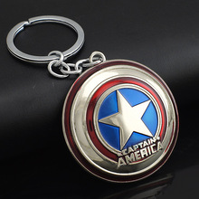 Marvel Comics Super Hero Captain America Avengers KeyRings Keychains Holder Purse Bag Buckle Accessories Gift Key Chains K102
