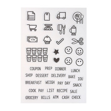 DIY Transparent Clear Stamp Mould Small Gadgets Silicone Seals Scrapbooking Card Making Photo Album Decoration Supplies(China)