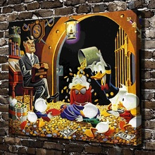 H2046 Carl Barks Uncle Scrooge Mcduck Animal .HD Canvas Print Home decoration Living Room bedroom Wall pictures Art painting