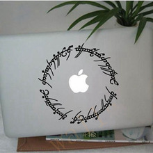 "Free shipping hobbit stickers 6"" Elvish circle decal inspired by The Lord of the Rings for Macbook, Laptop, etc..(China)"