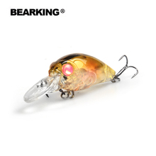 Retail 2016 good fishing lures minnow,quality professional baits 3.5cm/3.7g,bearking hot model crankbaits penceil bait popper(China)