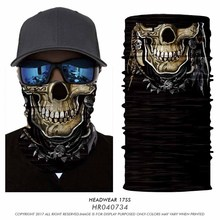 YueLei High Quality Scarf Black Headband Unisex Devil Halloween mask Seamless skull UV Protection Fabric Scarf 2017New