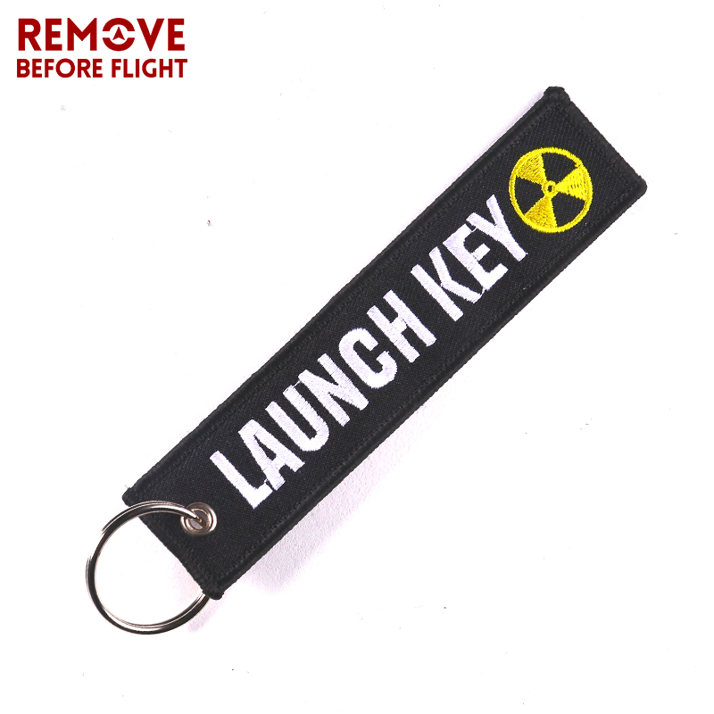Fashion Nuclear Launch Key Chain Bijoux Keychain for Motorcycles and Cars Gifts Tag Embroidery Key Fobs OEM Keychain Bijoux 3