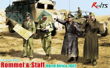 RealTS Dragon model 6723 1/35 Rommel & Staff, North Africa 1942 plastic model kit(China)