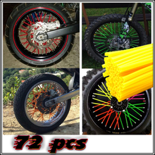 Motocross SPOKE SKINS Wheel RIM SPOKE SHROUDS COVERS for KAWASAKI CRF YZF r3 KX RMZ WR250 MX Dirt Bike ktm exc 250 t max 530 xjr(China)